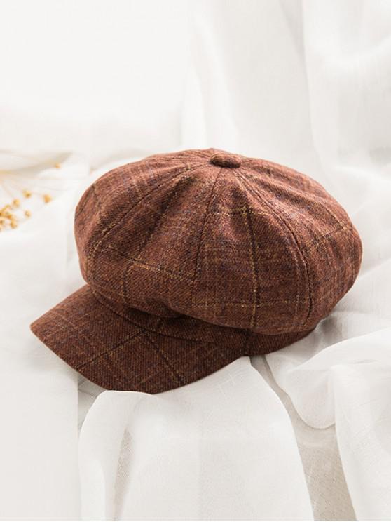 sale Peaked Octagonal England Hat - CHOCOLATE
