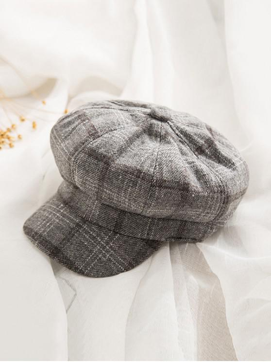 chic Peaked Octagonal England Hat - DARK GRAY