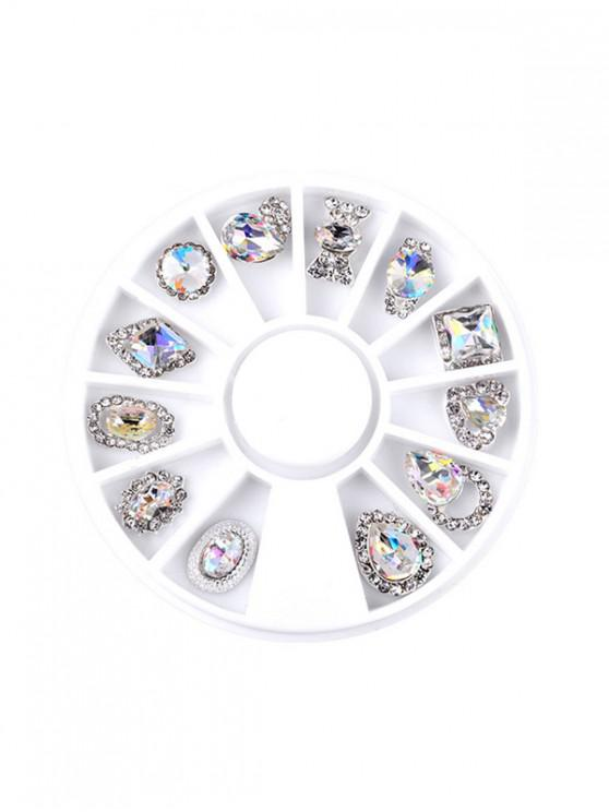 sale 12Pcs Glitter Faux Diamond Nail Decoration - TRANSPARENT