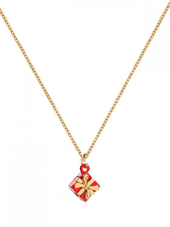 buy Christmas Pattern Pendant Metal Chain Necklace - MULTI-D