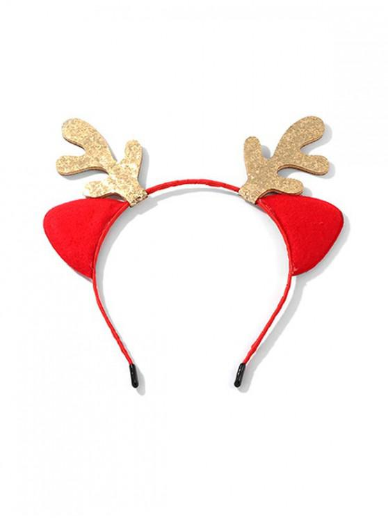 latest Christmas Sparkly Antlers Hair Band - RED