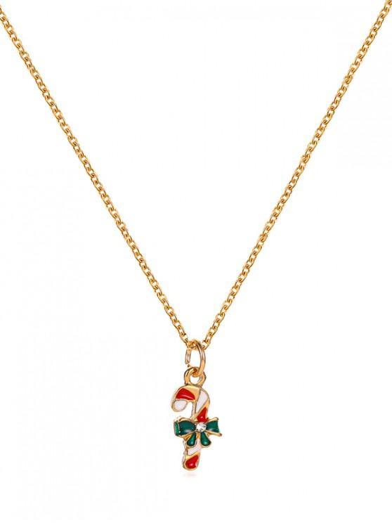 Collar de Cadena de Metal Colgante Patrón de Navidad - Multicolor-F