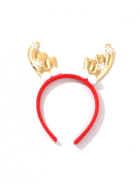 latest Christmas Elk Antlers Hair Band - RED