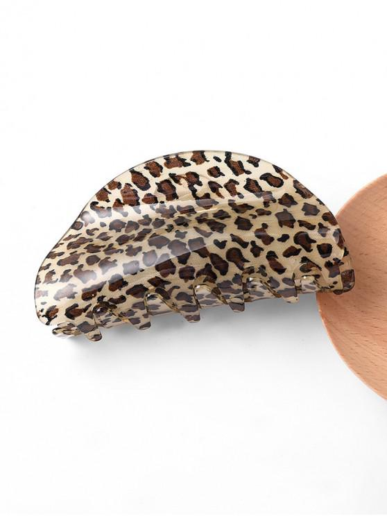 outfits Leopard Semicircle Acrylic Hair Claw - BLACK