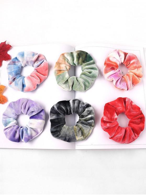 fashion 6Pcs Gradient Velour Scrunchy Set - MULTI-A