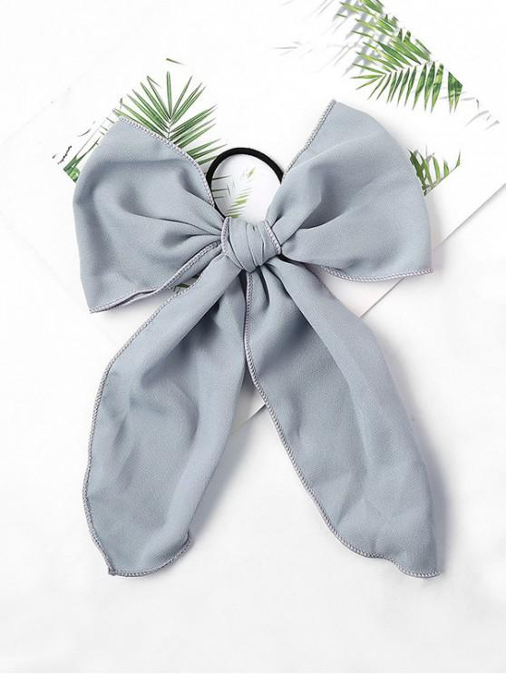 hot-chiffon-bowknot-elastic-hair-tie---gray by zaful