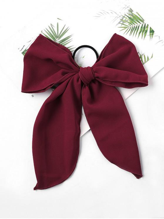 fancy Chiffon Bowknot Elastic Hair Tie - RED WINE