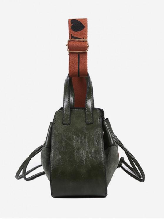 latest Jointed String Solid Shoulder Bag - HAZEL GREEN