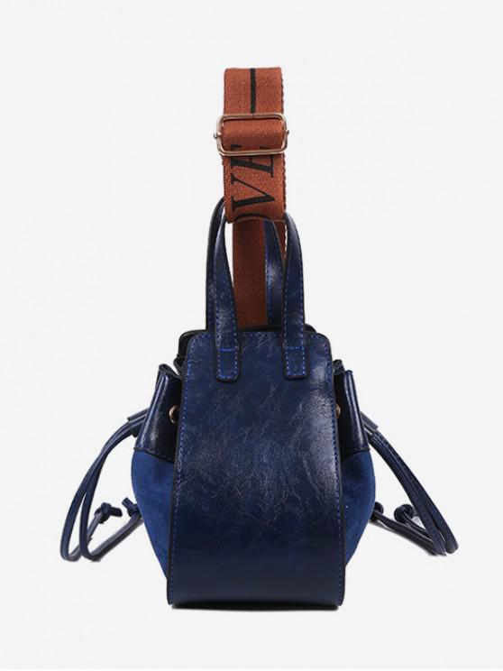 best Jointed String Solid Shoulder Bag - DARK SLATE BLUE