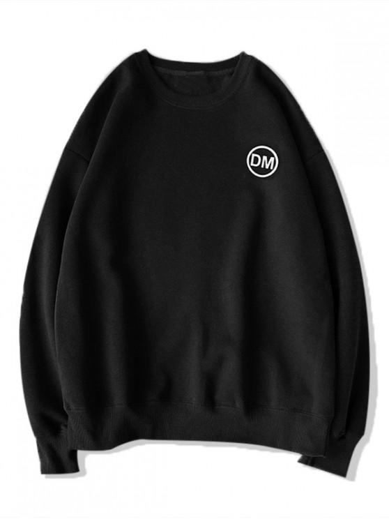 buy Casual Graphic Letter Printed Sweatshirt - BLACK 2XL
