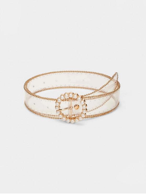 珍珠圓扣透明帶 - 透明