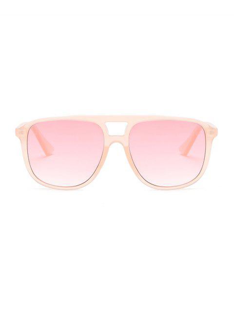 Lunettes de Soleil Monture Transparente Surdimensionnées Unisexes - Rose Cochon  Mobile