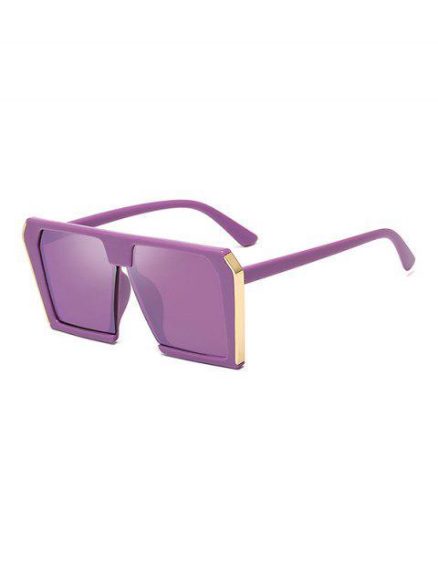 Lunettes de Soleil Carrées Elégantes Surdimensionnées Unisexes - Rouge Violet Pâle   Mobile