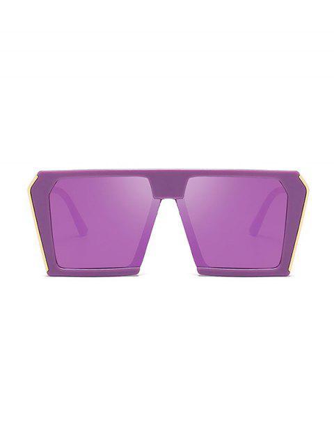 Стильные Крупногабаритные Квадратные Солнцезащитные Очки Унисекс - Бледно-фиолетовый красный  Mobile