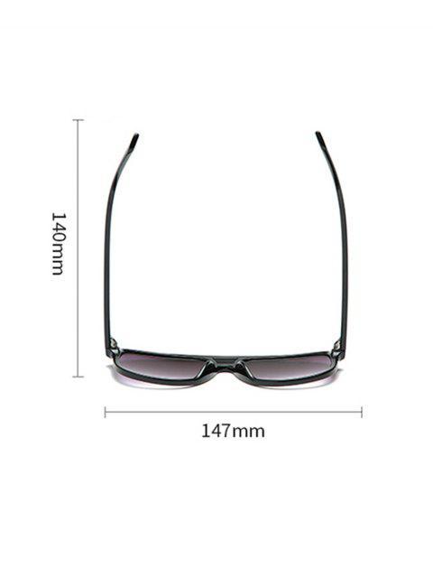 Унисекс Увеличенные Солнцезащитные Очки Прозрачная оправа - Чёрный  Mobile