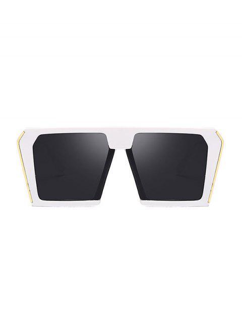 Стильные Крупногабаритные Квадратные Солнцезащитные Очки Унисекс - Белый  Mobile