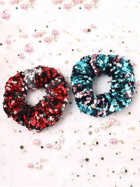 outfits 7Pcs Double-sided Sequins Scrunchy Set - MULTI-A  Mobile