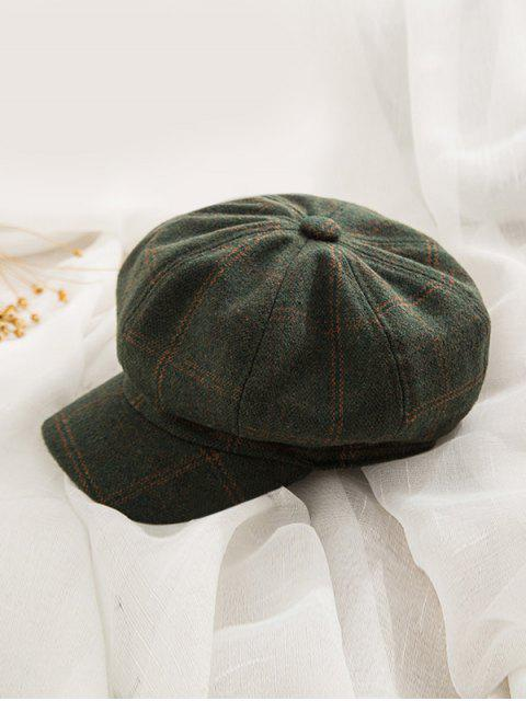 shop Peaked Octagonal England Hat - PINE GREEN  Mobile