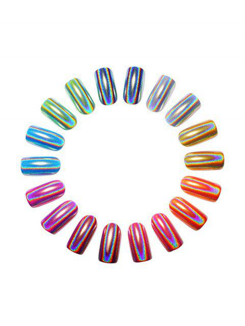 womens Electroplate Mirror Glitter Nail Powder Decoration - SILVER  Mobile