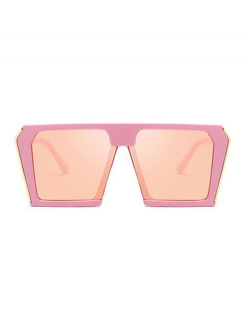 Стильные Крупногабаритные Квадратные Солнцезащитные Очки Унисекс - Розовый  Mobile