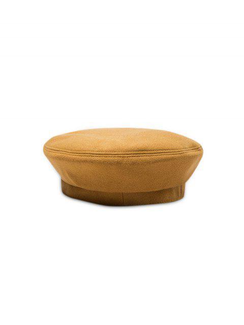 Sólido boina de lana retro del sombrero del invierno - Caramelo  Mobile