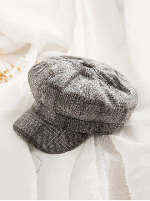 chic Peaked Octagonal England Hat - DARK GRAY  Mobile