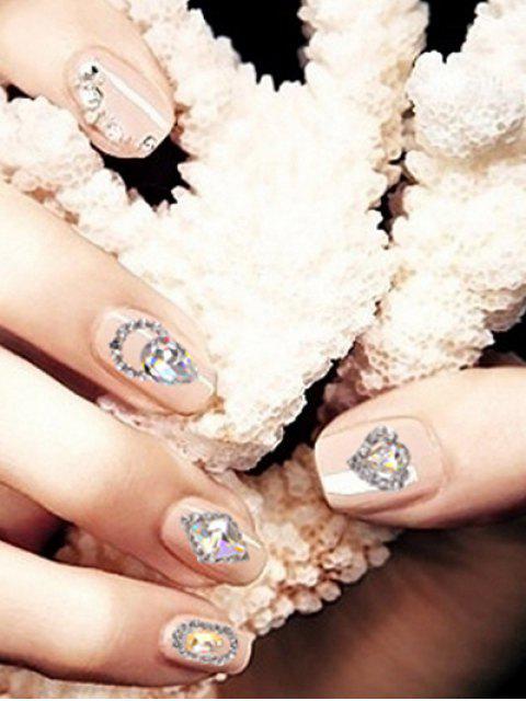 sale 12Pcs Glitter Faux Diamond Nail Decoration - TRANSPARENT  Mobile