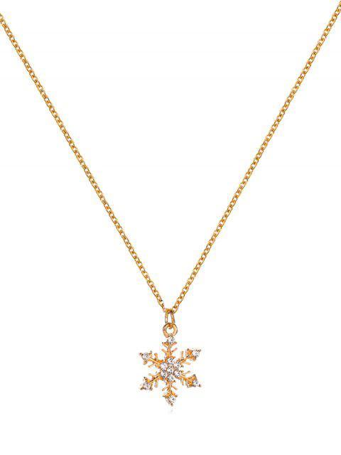 Modelo de la Navidad collar de cadena de metal - Multicolor-B  Mobile