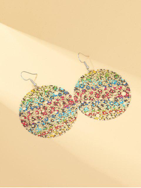 Ажурные Круглые Серьги с подвеской - Многоцветный  Mobile