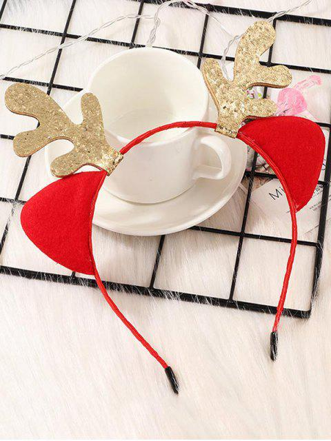 latest Christmas Sparkly Antlers Hair Band - RED  Mobile