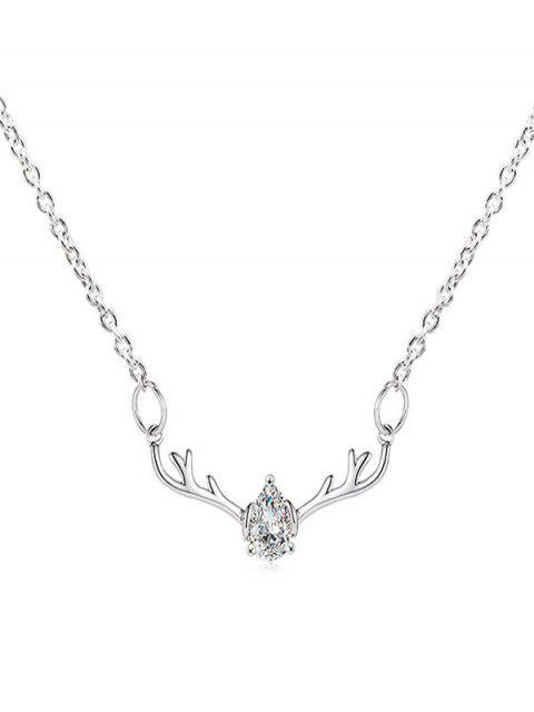 Collar Cadena Cristal gotas de agua Elk Navidad - Transparente  Mobile