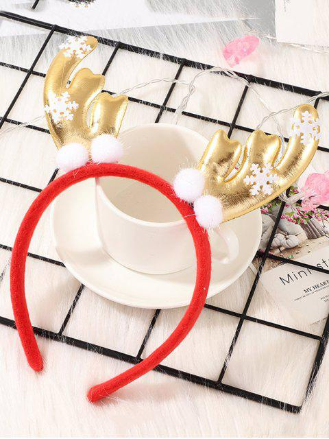 latest Christmas Elk Antlers Hair Band - RED  Mobile