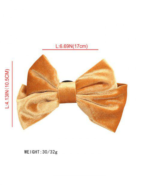chic Velour Solid Bowknot Hair Clip - BLACK  Mobile
