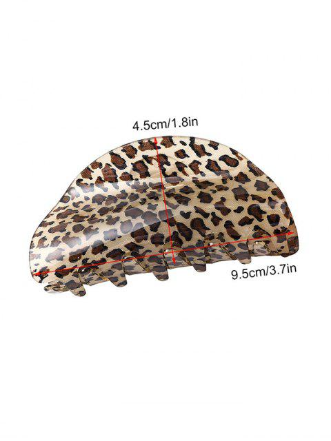 outfits Leopard Semicircle Acrylic Hair Claw - BLACK  Mobile