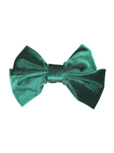 buy Velour Solid Bowknot Hair Clip - DARK GREEN  Mobile