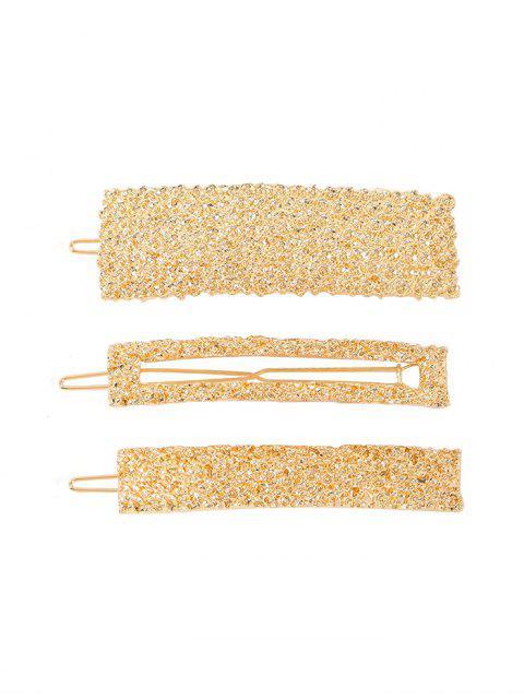 womens Glitter Metal Baroque Hairpins Set - GOLD  Mobile