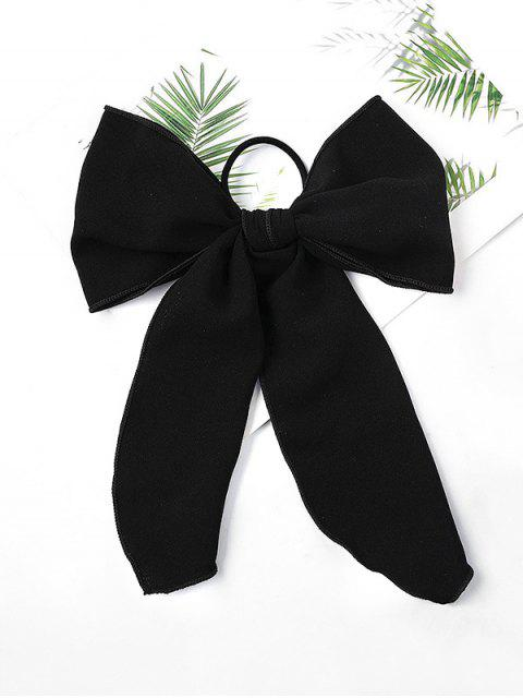 latest Chiffon Bowknot Elastic Hair Tie - BLACK  Mobile