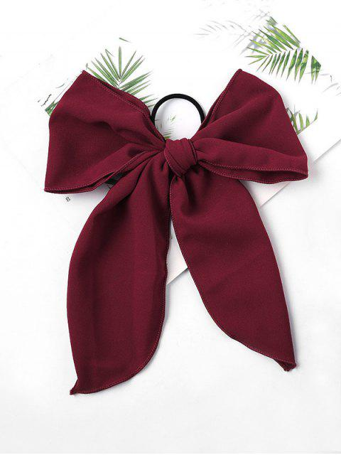 fancy Chiffon Bowknot Elastic Hair Tie - RED WINE  Mobile