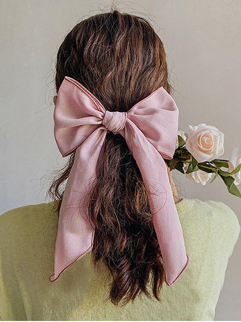 Шифон С бантом Эластичная Резинка для волос - Розовый  Mobile