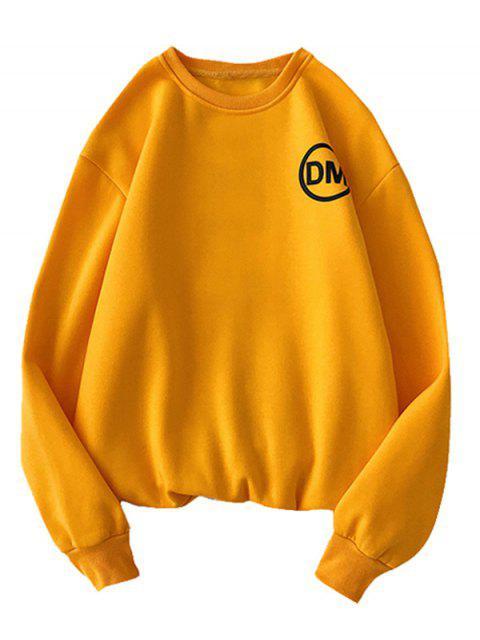 Casual Carta gráfica impresa con capucha - Amarilla de Abeja  M Mobile
