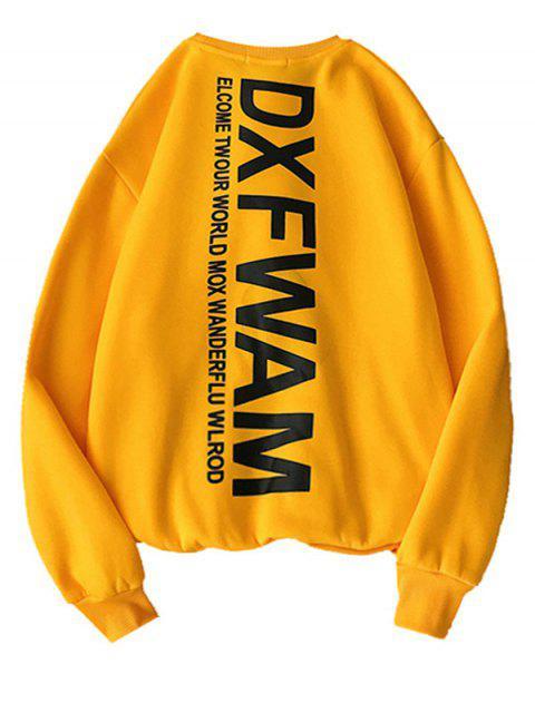 Casual Carta gráfica impresa con capucha - Amarilla de Abeja  2XL Mobile