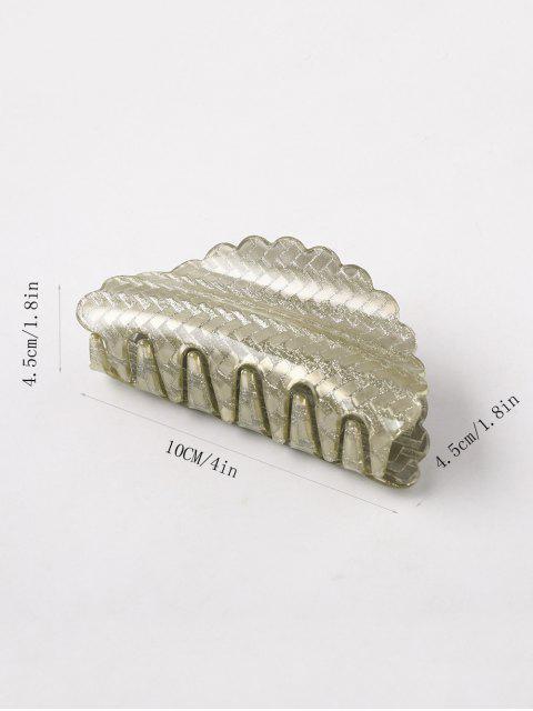 best Acrylic Geometric Pattern Glitter Hair Clip - PINK  Mobile