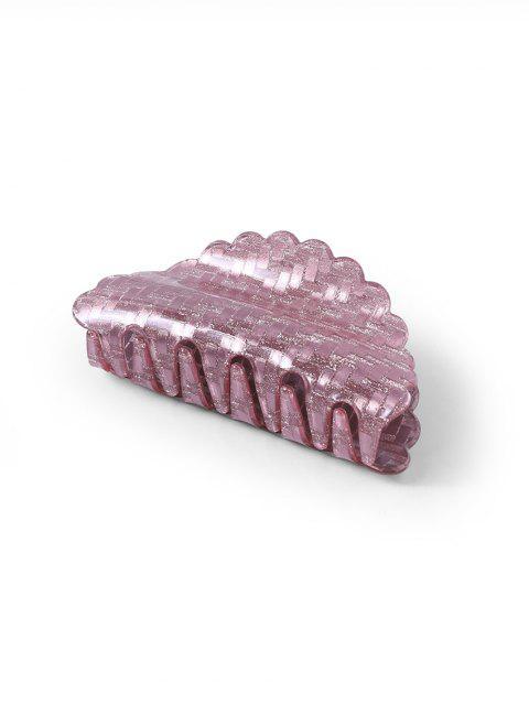 Pince de Cheveux Géométrique en Acrylique Motif à Paillettes - Rose   Mobile
