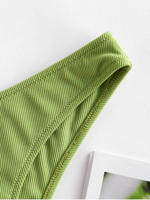 ZAFUL羅紋低腰比基尼底部 - 開心果綠色 M Mobile