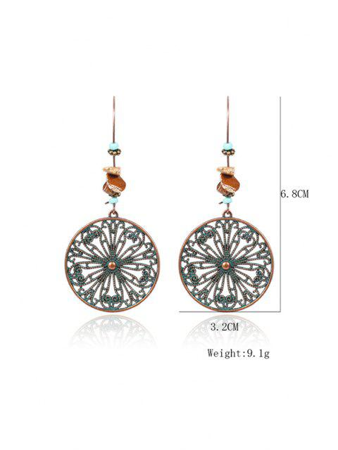shop Hollow Out Round Flower Drop Earrings - COPPER  Mobile