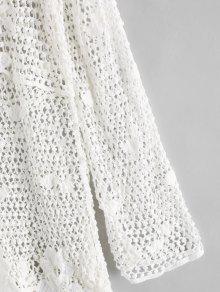 Lace Up Tassel Crochet Beach Dress