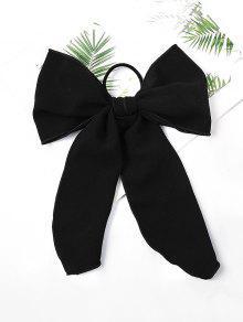 Bowknot الشيفون مطاطا التعادل الشعر - أسود