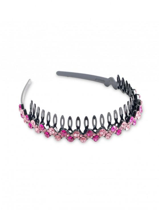 fashion Artificial Diamond Hair Band - ROSE RED