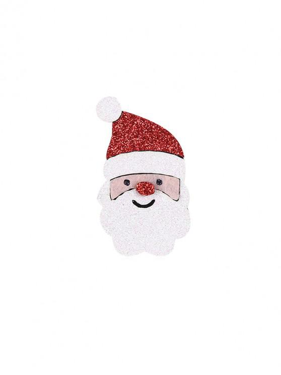 outfit Christmas Glitter Santa Claus Brooch - RED