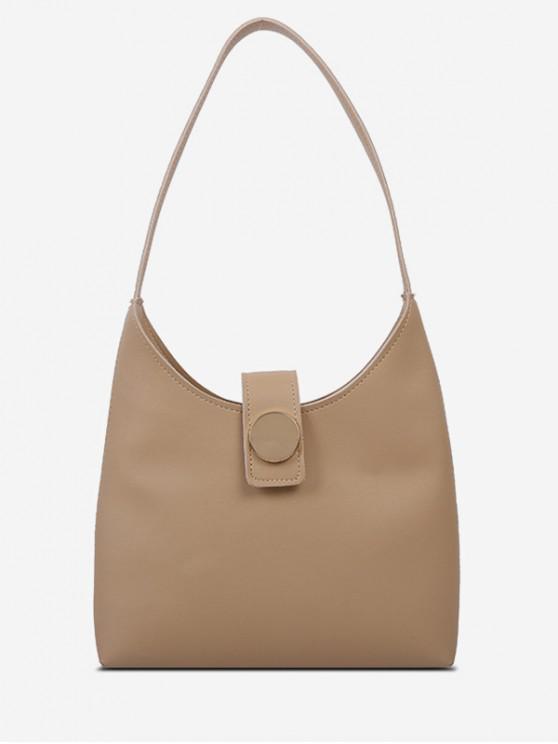 best Solid Minimalism Shoulder Bag - CAMEL BROWN